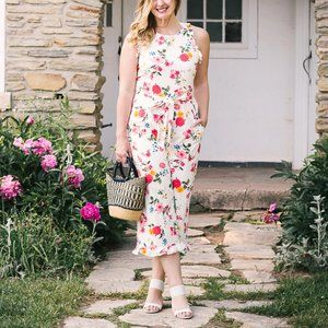 NWT Gal Meets Glam Beverly Jumpsuit Floral Cotton